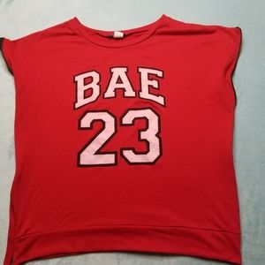 🔥$8 Cleo Appareal Red  T Shirt Womens Sz 1X